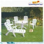 white lounger plastic beach chair