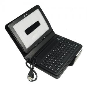 China Wireless Bluetooth Keyboard Leather Samsung Galaxy Tab P1000 Protective Case on sale