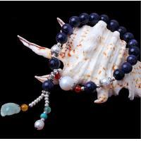Blue sandstone bracelets, blue goldstone bracelets, gemstone bracelets, Jewelry for her