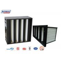 Large Dust Holding V type HEPA Air Filter Price,V bank HEPA filter