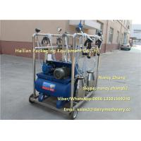 2.2kw Vacuum Cow Breast Mobile Milking Machine With 4 Cluster Group