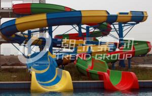China Outdoor Custom Water Slides Fiberglass , Popular Water Park Equipment For Adult on sale