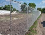 Low Carbon Iron Wire Metal Chain Link Fence / Baseball Field Fence With Accessories