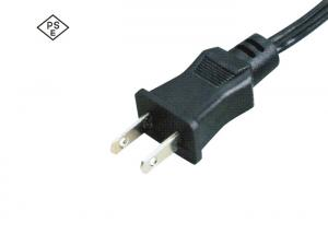 China Black 7A 120V Power Cord ,Japan Standard Rice Cooker Power Cord 2 Wires on sale