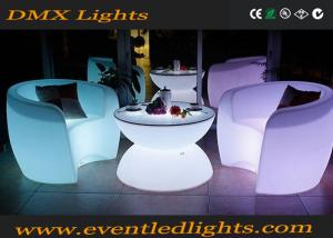 China Muti-colors changing remote control Light Led Rotational Outdoor Bar LED Tables And Chairs on sale
