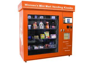 China Shopping Mall Smart Mini Mart Universal Vending Kiosk with 19 Inch Touch Screen on sale