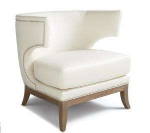 China Solid Birch Wood Comfortable Leather Living Room Chair , leather lounge chairs on sale
