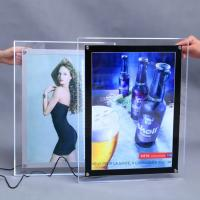China Indoor LED Advertising Sign Light Box With Snap Frame Rectangle Shape on sale