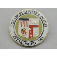 Los Angeles Fifes & Drums Imitation Hard Enamel Lapel Pin, Customized Hard Enamel Pin with Printing