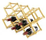 Triangle shaped high quality bamboo wine bottle rack for 12 bottles
