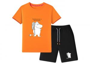 China Cotton Children Fashion Wear , Short Printed Kids Summer Sets Clothing on sale