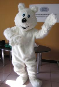 Quality Lovely polar bear cartoon character mascot costumes for adult for sale