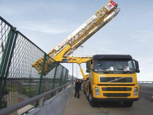 China Platform Type Mobile Bridge Inspection Unit Truck Chassis 309 KW 420 HP on sale