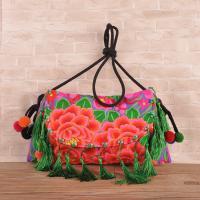 China Hot sale woman ethnic handbag embroidery messenger bag with tassel on sale