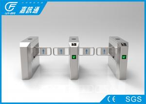 China Stadium Double Swing Gate Turnstile 40persons / Min Brcush DC Motor React Quickly on sale