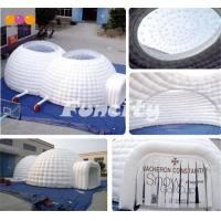 China Airtight Inflatable Double Dome Tent Camping Rental By Sewing Technology on sale