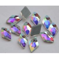 China Shaped Hotfix Rhinestones Crystal AB Latin Dance Bikini Skating Wear Ornament Rhombus Sparkle Stones on sale
