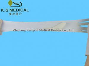 China Milky White Long Latex Surgical Gloves , Disposable Surgical Products on sale
