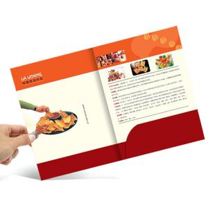 China A4 Size Full Color Brochures Pocket Paper Cardboard File Folder For Office on sale