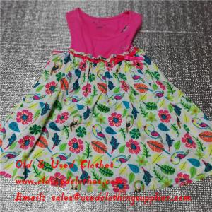 China Summer Cotton Baby Flower Used Girls Dresses Second Hand Childrens Clothing on sale