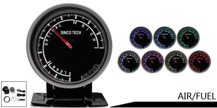 2 5 Inch 60mm Race Car Gauges LED Display 7 Color Backlight Alumimum