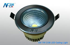 China 7W AC 120V Cool White COB Recessed LED Ceiling Lights 600lm For Indoor Lighting on sale