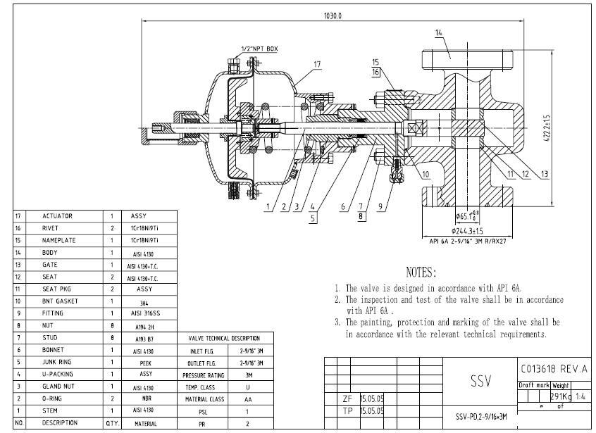 surface safety valve  ssv  ssv 16