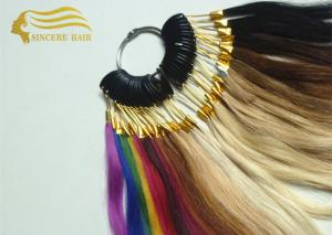 China 8 Inch Human Hair Color Wheel / Colour Ring, 32 Popular Colors 100% Real Human Hair Color Chart For Sale on sale