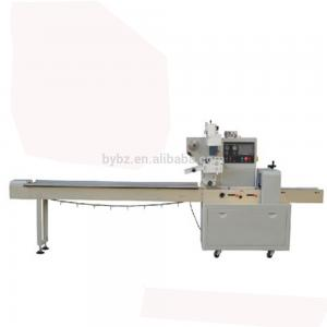 China Food Plastic Flow Wrap Machine , Electric HFFS Automatic Packing Machine on sale