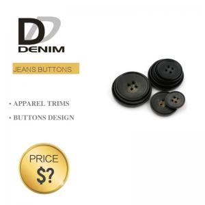 China Plastic Blazer Coat Buttons Shiny And Matte Black Color For Garment Factory on sale