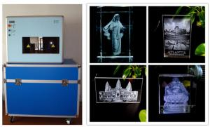 China 3W Diode Pumped 3D Glass Laser Engraving Machine with 2 Years Warranty on sale