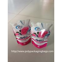 Fruit Juice Stand Up Plastic Bags With Spout / Suction Nozzle