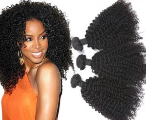 China 18 Inches 8A Brazilian Curly Human Hair Extensions / Smooth Real Virgin Hair weaving on sale