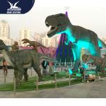 Outdside Theme Park Realistic Dinosaur Statues / Life Like Garden Animals