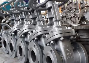 China Cast Steel 150Lb Solid Wedge Gate Valve For Oil /  Gas  Size NPS 2-48 on sale