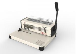 China Manual Heavy Duty Binding Machine , Standard Plastic Binding Combs Metal Comb Binding on sale