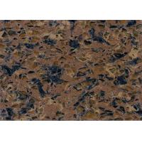 Durable Pre Cut Brown Quartz Stone Countertops Quartz Kitchen Work Tops