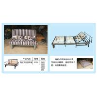 Hand adjustable folding sofabed mechanism frame with wooden slatA024