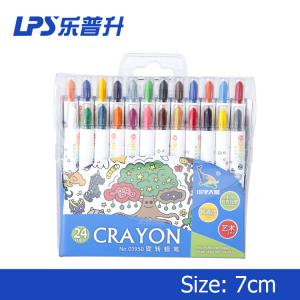 China Paraffin Wax Twisted Water Based CrayonsShort Student Drawing Crayons 110mm on sale
