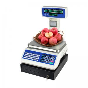 China High Accuracy Barcode Weight Scale , Digital Cash Register With Scanner on sale
