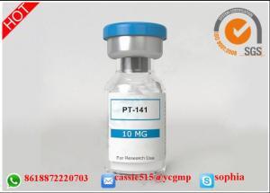 China Bremelanotide PT-141 HGH Peptide Fragment , Body Building Peptides White Powder on sale