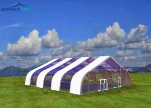 China 42X25 M Stainless Steel Pvc Large Storage Tent Waterproof For Badminton Stadium on sale