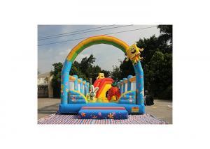 China Spongebob And Patrick Star Fun City Inflatable Amusement Park on sale