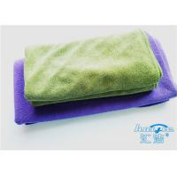 China Big Purple Weft-Knitted Resilient Microfiber Bath Towels For Home Use on sale