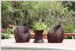 China Outdoor furniture garden set rattan coffee table and chair on sale