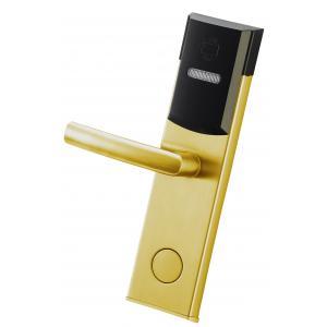 China SUS Material Smart RFID Door Lock Electronic RFID Card Digital Hotel Door Lock on sale