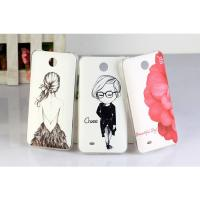 China Tear - resistant Slim PC Hard Back Cover HTC Cell Phone Cases For HTC Desire 300 301E on sale