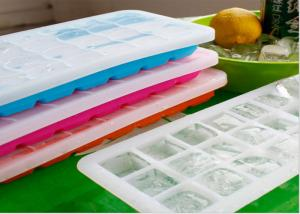 Quality Multi Portions Silicone Ice Trays , Silicone Ice Cube Trays With Lids 21 Cavity for sale