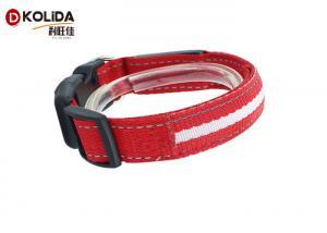 China Strap Adjustable Puppy LED Dog Collar LED Lights Cat Dog Necklace on sale