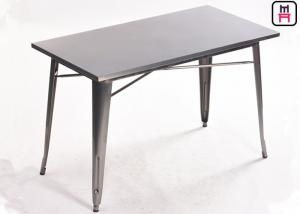 China Industrial Style Metal Commercial Restaurant Tables Tolix Metal Table For Tolix Chair on sale
